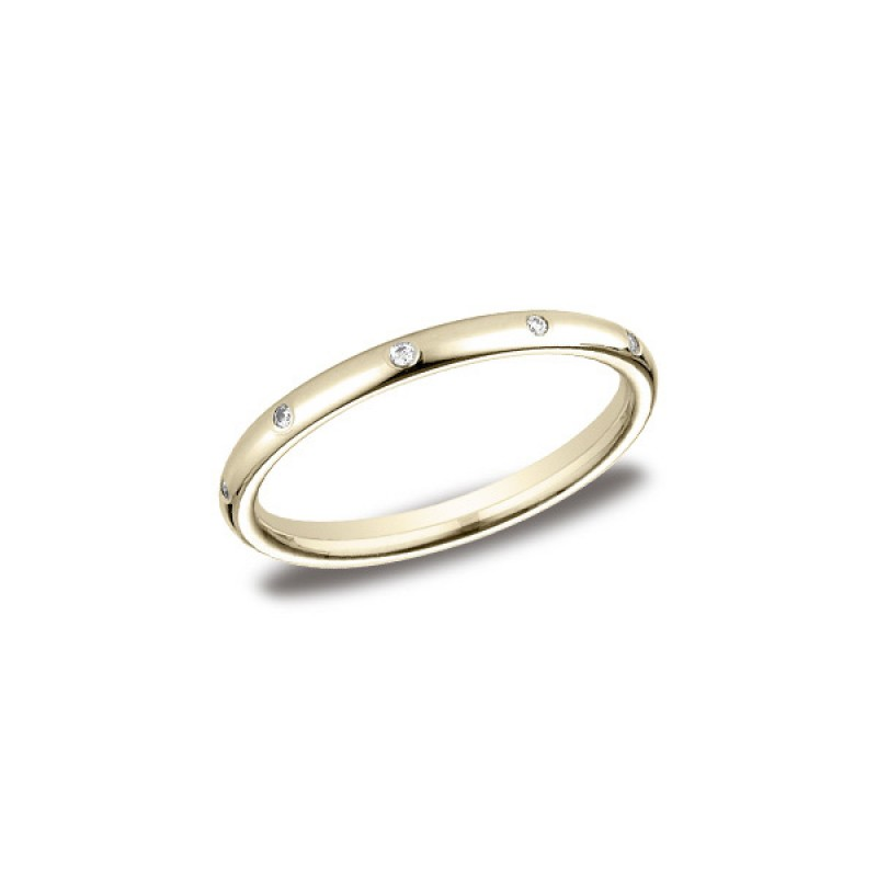 Diamonds Yellow Gold 2mm Diamond Band