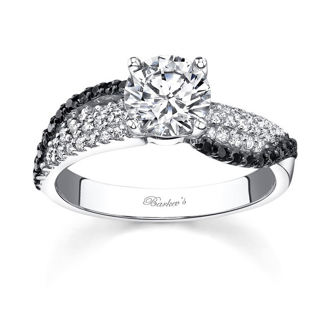 14KT White Gold Barkev's Diamond Engagement Ring with 0.34 ... - photo #43