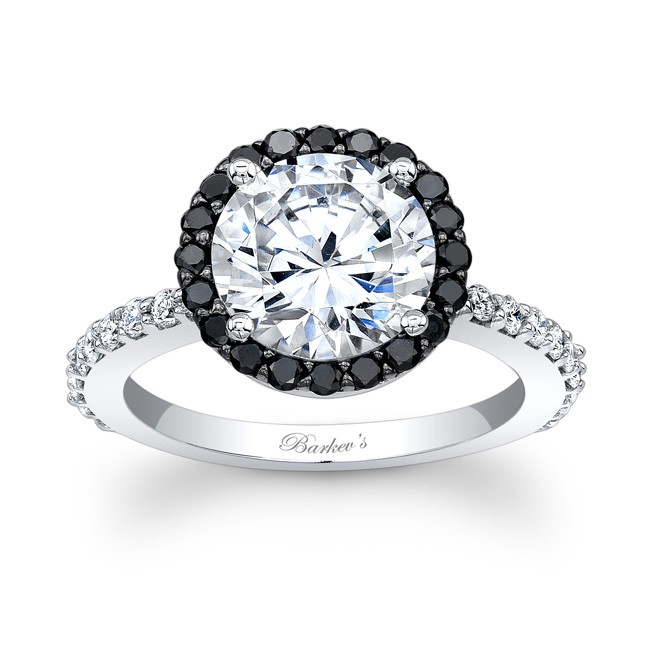 White gold with 0 63 ct in round cut black and white diamonds 7839lbkw