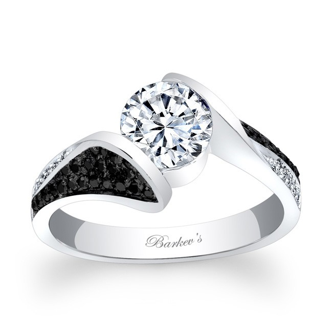 14kt white gold barkev s engagement ring with 0 28