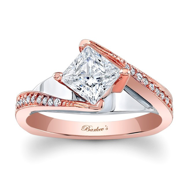 Barkev S Designer Diamond Engagement Ring In 14kt Rose