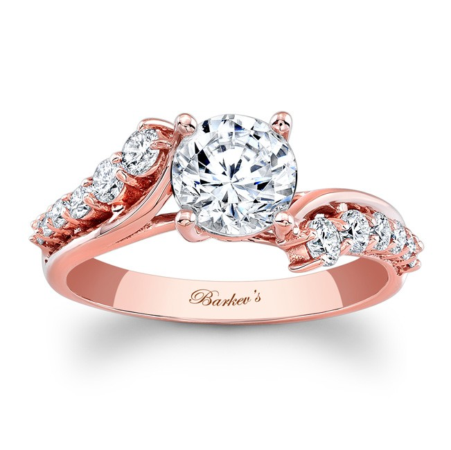 Rose Gold Engagement Rings Rose Gold Engagement Rings For Women 14kt