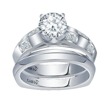 Caro74 14K White Gold Diamond Engagement Ring Setting CR163