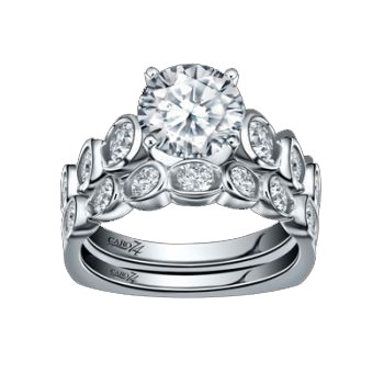 Caro74 14K White Gold Diamond Engagement Ring Setting CR170W