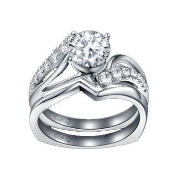 Caro74 14K White Gold Diamond Engagement Ring Setting CR171