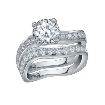 Caro74 14K White Gold Diamond Engagement Ring Setting CR205W