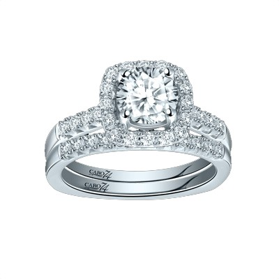 Caro74 14K White Gold Diamond Engagement Ring Setting CR254W