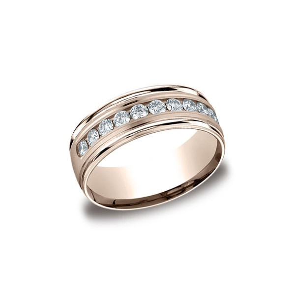 Diamonds Rose Gold 8mm Diamond Band