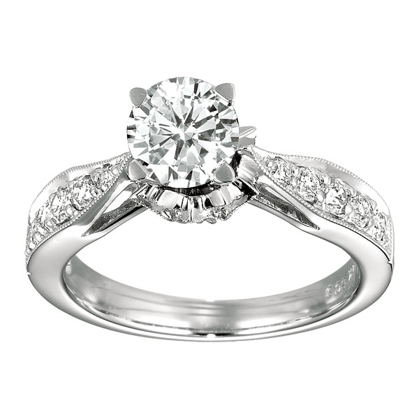   Gabriel &amp; Company  Diamond Engagement Ring W-ER4088D4