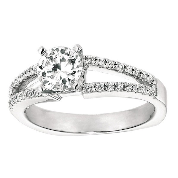 Gabriel & Company  Diamond Engagement Ring W-ER4118D4