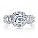MARS 25649 Diamond Engagement Ring 0.80 Ct Rd, 0.37 Ct Bg.