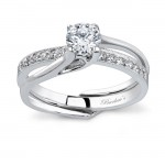 White gold diamond engagement ring set - 7243SW
