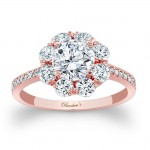 Barkev's Designer Round Diamond Engagement Ring in 14KT Rose Gold with 0.90 ct of Round Cut Diamonds 7661LPW