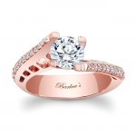 Barkev's Designer Diamond Engagement Ring in 14KT Rose Gold with 0.30 ct in Round Diamonds 7927LPW
