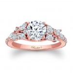 Barkev's Designer Diamond Engagement Ring in 14KT Rose Gold with 0.64 ct in Marquise and Round Diamonds 7932LPW