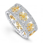 R718-D,D CROSS AND DIAMOND ETERNITY BAND