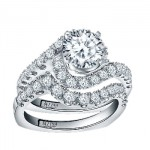 Caro74 14K White Gold Diamond Engagement Ring Setting CR148W
