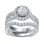 Caro74 14K White Gold Diamond Engagement Ring Setting CR153W