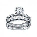 Caro74 14K White Gold Diamond Engagement Ring Setting CR172W