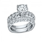 Caro74 14K White Gold Diamond Engagement Ring Setting CR183W