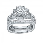 Caro74 14K White Gold Diamond Engagement Ring Setting CR202W