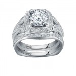 Caro74 14K White Gold Diamond Engagement Ring Setting CR210W