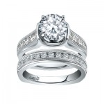 Caro74 14K White Gold Diamond Engagement Ring Setting CR225W