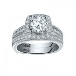 Caro74 14K White Gold Diamond Engagement Ring Setting CR257W