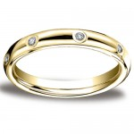 3mm Diamond 14K Yellow Gold Eternity Comfort Fit Band