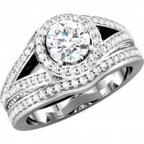 Matthew Ryan Design 14K White Gold 3/4 ct tw Diamond Engagement / Bridal Ring Setting MRD 67858
