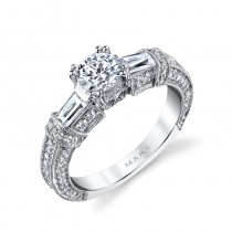 MARS 25234 Diamond Engagement Ring 0.86 Ctw.
