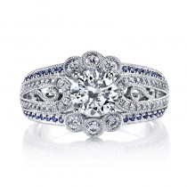 MARS 26148 Diamond Engagement Ring 0.41 Ct Dia, 0.19 Ct Saph.