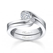 Barkev's 14KT White Gold Solitaire Engagement Ring 3853SW