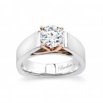 Barkev's Designer Two Tone Solitaire Engagement Ring 4801LW