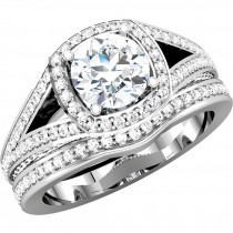 Matthew Ryan Design 14K White Gold 7/8 ct tw Diamond Engagement / Bridal Ring Setting MRD 67860