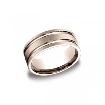 Designs Rose Gold 8mm Band