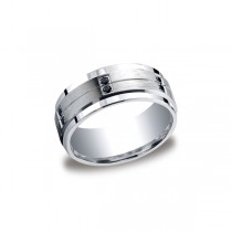 Diamonds Argentium Silver 9mm Black Diamond Band