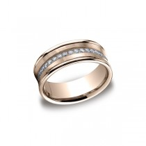 Diamonds Rose Gold 7.5mm Diamond Band