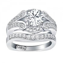 Caro74 14K White Gold Diamond Engagement Ring Setting CR131W