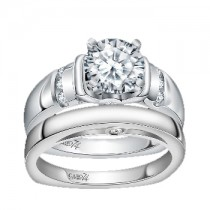 Caro74 14K White Gold Diamond Engagement Ring Setting CR150W