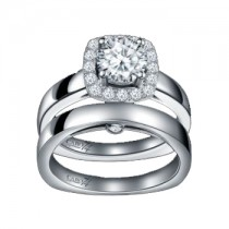 Caro74 14K White Gold Diamond Engagement Ring Setting CR179W