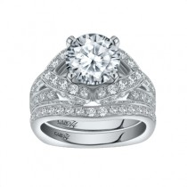 Caro74 14K White Gold Diamond Engagement Ring Setting CR221W