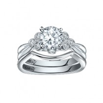 Caro74 14K White Gold Diamond Engagement Ring Setting CR263W