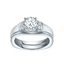 Caro74 14K White Gold Diamond Engagement Ring Setting CR271W
