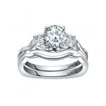 Caro74 Platinum Diamond Engagement Ring Setting CR288PT