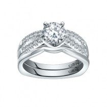 Caro74 Platinum Diamond Engagement Ring Setting CR291PT