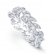 R6814-D,D THIN FLORAL HEART BAND