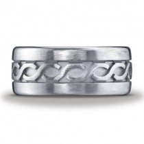 Argentium Silver 10mm Comfort-Fit Celtic Knot Design Band