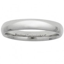 4mm Comfort Fit Platinum Benchmark Wedding Band