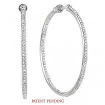 Eternity Diamond Hoop Earrings